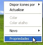 Windows XP - Propriedades do Desktop